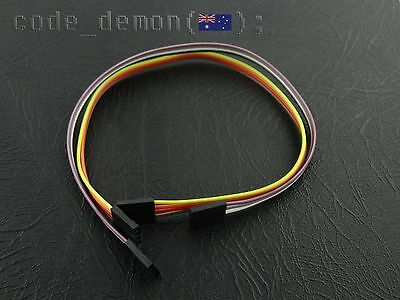 New 4 Pin Dupont Cable Jumper Wire 210mm Female for Arduino Quadcopter (x2)