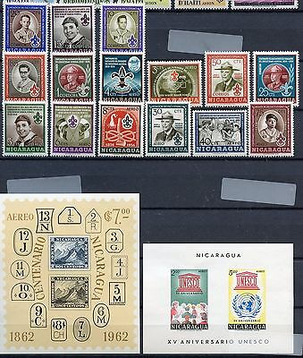 Nicaragua  Lot Of All Mint Never Hinged Sets As Shown