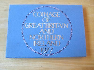 1977 Coinage of Great Britain and Northern Ireland Coin Set, 7 coins