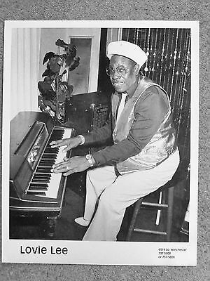 CHICAGO BLUES PUBLICITY PHOTO: LOVIE LEE (of Muddy Waters band) at piano 8x10