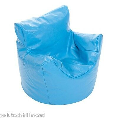 Kaikoo Kids Funzee Bean Bag Chair in Faux Leather Blue