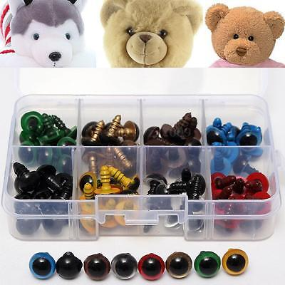 80pcs 10mm 8 Colors Plastic Safety Eyes For Bear Toys Animal Mask Doll Craft