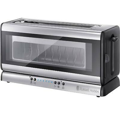 Russell Hobbs 21310 Purity Glass 2 Slice Toaster in Stainless Steel & Glass