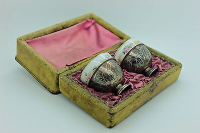 Antique Original Silver Handmade Ottoman Islamic Amazing Double Cup Set
