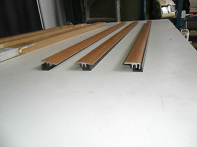 b24) 3 X ALUMINIUM DOOR THRESHOLD STRIPS BARS  990MM LONG NEW IN BOXES