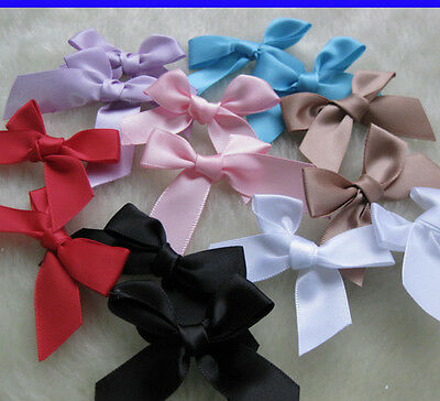 Upick Satin ribbon bow flower Kid's DIY Party supply Gift Packing Lots Mix