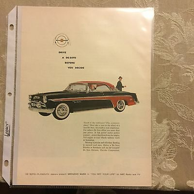 4-1955 Vintage ads for New De Soto-Plymouth Nice