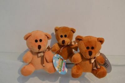 12 x Plush Toys Soft Teddy 3 shades of choc Kids Cuddly Great Gift Wholesale lot