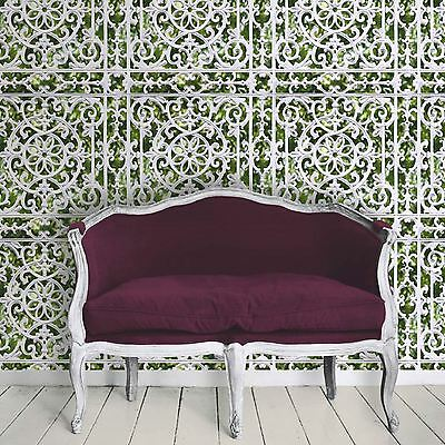 Garden Railings Wallpaper - Muriva J99804 - Green New Feature Wall Free P+P