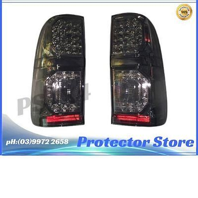 Smoked Black LED Pair Tail Lights for Toyota Hilux 2005-2015