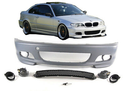 BMW e46 M SPORT FRONT BUMPER coupe convertible 2 door including fogs and bulbs