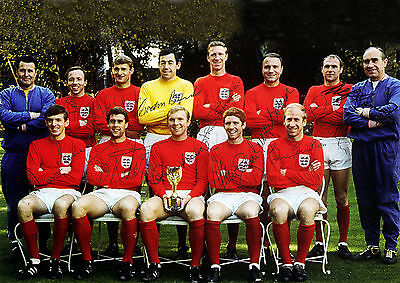 England 1966 World Cup Winners 01 Signed Photo Print 01