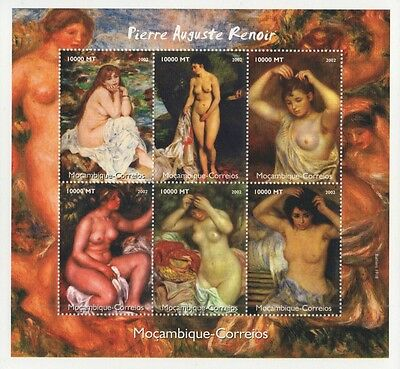 Pierre Auguste Renoir Impressionism Painting Art 2002 Mnh Stamp Sheetlet