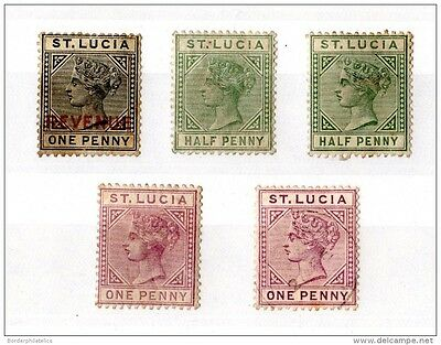 St Lucia Victorian Mint Collection on Card (5V) X1217