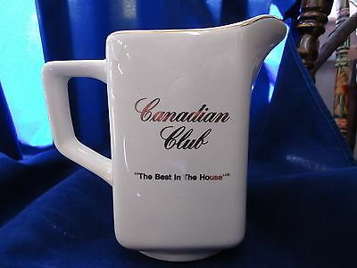 Canadian Club White Ceramic Pitcher Barware