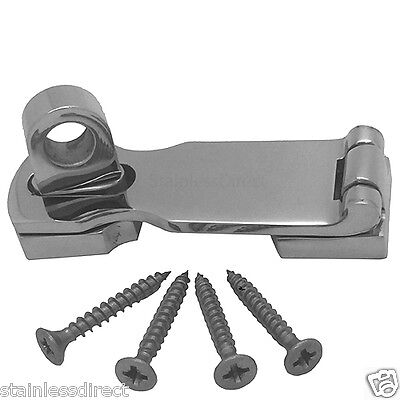 Stainless Steel 316 Heavy Locking Hasp And Staple Complete With Fixing Screws