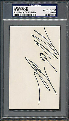 Mike Tyson Index Card PSA/DNA Certified Authentic Auto Autograph Signed *0774