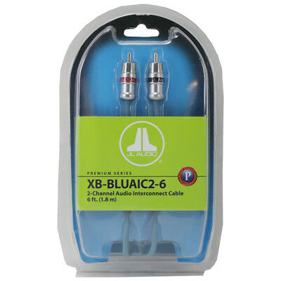 JL Audio XB-BLUAIC2-6 6 ft. 2-Ch Interconnect RCA Cable w/ Machined Connectors