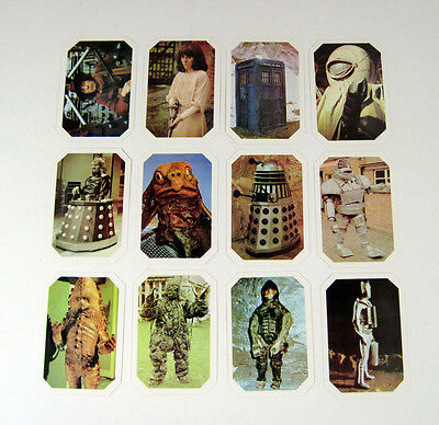 1976 Ty Phoo Doctor Who Trading Card Set (12) Nm/Mt