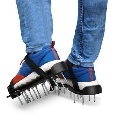 29x13cm Spikes Pair Lawn Garden Aerator Aerating Sandals Shoes,Adjustable Strap