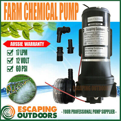 Escaping Outdoors HUGE PSI 17 lpm 12 volt AGRICULTURAL CHEMICAL BOOM SPRAY PUMP