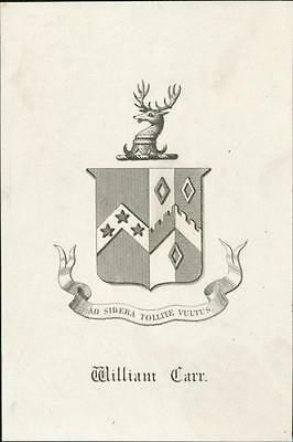 William Carr. Stag    Bookplate QR576