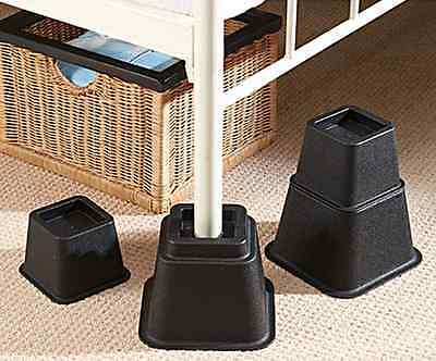 New Set Of 8 Bed Height Armchair Furniture Risers Adjustable Height Adjuster UK