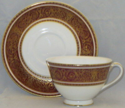 Royal Doulton Buckingham Footed Cup & Saucer Set