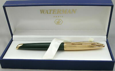 Waterman Carene Deluxe Green & Gold  Rollerball Pen  New In Box