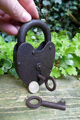 Antique Padlock with two keys, working order