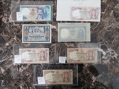 Lot of 6 Currency Bills  Portugal Notes 1 Bill from Germany
