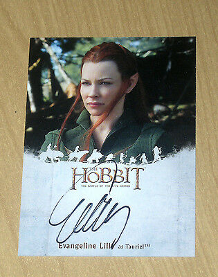 2016 Cryptozoic Hobbit Battle 5 Five Armies on-card autograph Evangeline Lilly