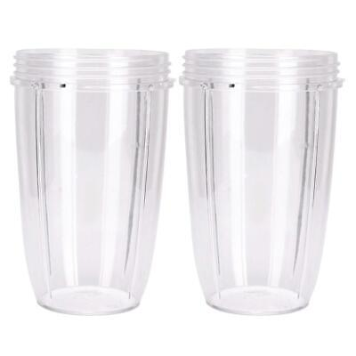 2 NUTRIBULLET TALL LARGE BIG CUP 24 Oz - Suits ALL Nutri Bullet 600 & 900 Models