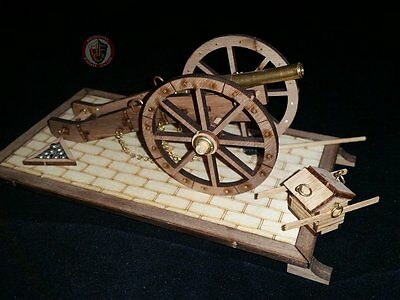 Cannon scale model made from wood DIY historical replica 1:72 scale