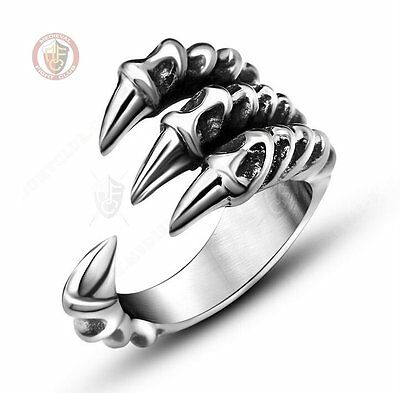 Dragon Claw ring 4 Fingers Talons Size 9