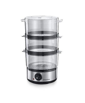 Russell Hobbs 14453 7L 3 Tier Brushed Stainless Steel Meat/Vegetable Steamer New