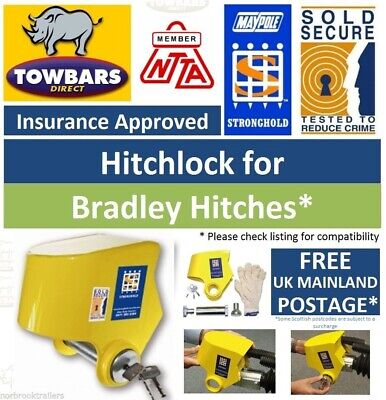 Stronghold Hitchlock for Bradley AutoHead Trailer Hitch Coupling Insurance Appro