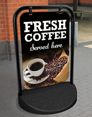Coffee A Board Pavement Sign Catering Restaurant Aluminium Display