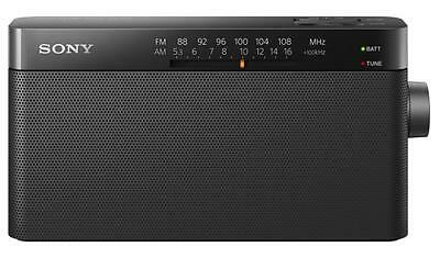 Sony ICF306 Battery Operated 100mW Integrated AM/FM Tuner Portable Radio - New