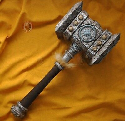 WoW ORC Hammer - made from polyurethane rubber for Cosplay or LARP