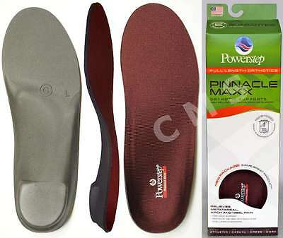 POWERSTEP PINNACLE MAXX Orthotic Arch Supports Shoe Insoles Original USA ALL SZ!