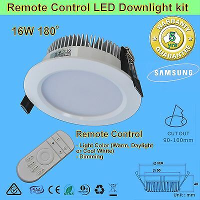 20W 120mm Cut Remote Control Dimming & light Colour Changeable LED Downlight kit