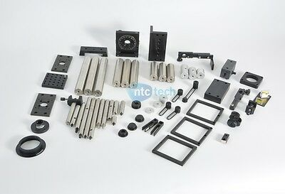 Newport Lot of Various Aluminum Plates Optical Mounts / Rods