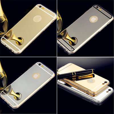 Luxury Soft TPU Ultra-thin Mirror Case Cover for iPhone & Samsung