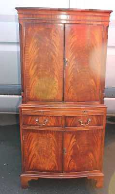 Tall  Mahogany Drinks Cabinet with Brushing Slide and good interior