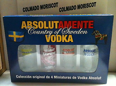 ABSOLUT VODKA ABSOLUTAMENTE MINI PACK 4 bottles 5cl 40% for Spanish market only