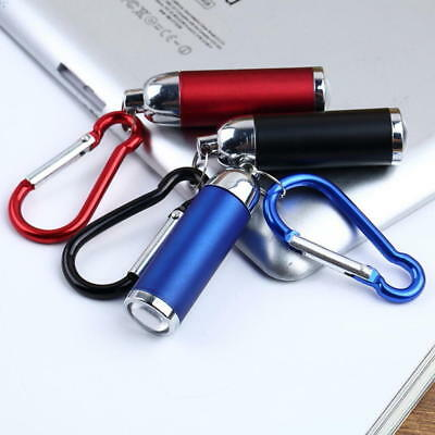 Mini LED Torch Flashlight Camping small Compact portable Keyring carabiner