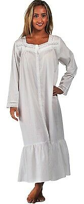 100% Cotton Nightdress Vintage Victorian Style Nightdres Housecoat Grace 7 sizes