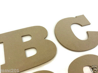 Hanging MDF Wooden Huge Alphabet Letters & Numbers, 6mm Thick