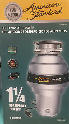 New American Standard 1.25 HP Waste Disposer Kitchen Food Garbage Quiet Disposal